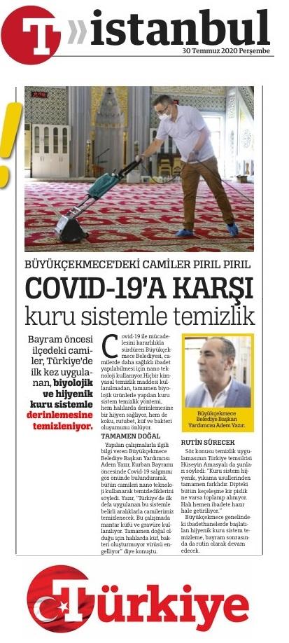 potema basin haber cami halı temizliği büyükçekmece belediyesi türkiye gazetesi